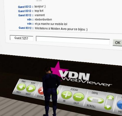 chat sur Second Life