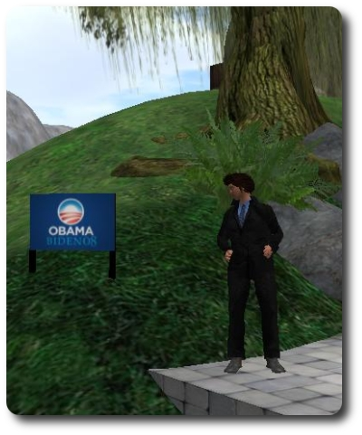 Obama Campaign, in Second Life